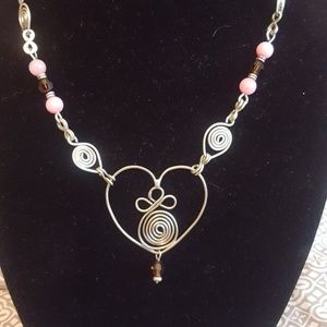 Freestyle handmade heart necklace